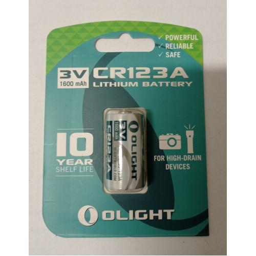 CR123A 3V 1600mAh Litium elem