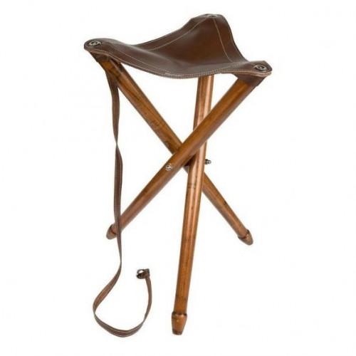 Vadász szék 3 lábú összecsukható, bőr ülőkével